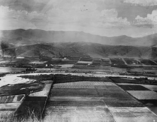 Los Angeles river and the area north of elysian park, 1900 (image credit: Los Angeles Public Library)