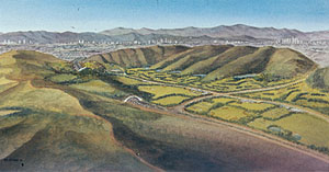 Perspective of Baldwin Hills park (image credit: Mia Lehrer + Associates; Hood Design)