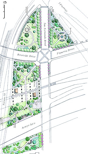 Plan for confluence park (image credit: Santa Monica Mountains Conservancy)