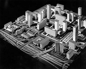Bunker Hill Plan, 1962 - Revised: Charles Luckman and Associates/CRA