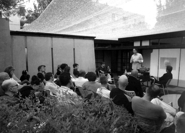 Lecture in Courtyard of the MAK Center for Art and Architecture at the Schindler House