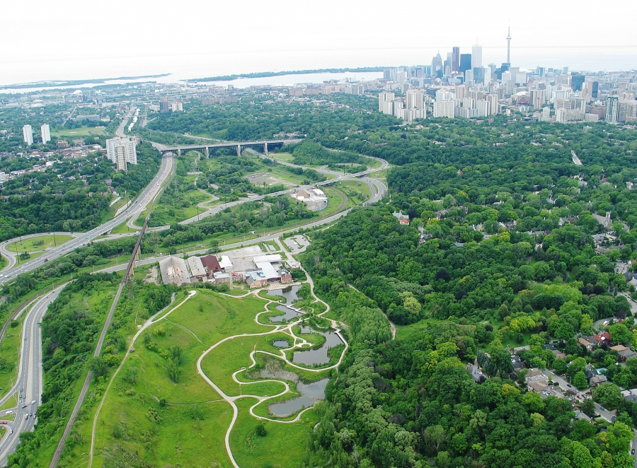 Green and blue infrastructure of the Don River valley and Evergreen Brick Works, Toronto (Toronto & Region Conservation Authority, Evergreen, 2013) courtesy of Nina-Marie Lister