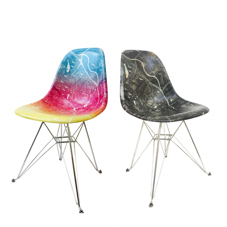 Sunset and Night Chairs, a Collaboration Limited edition by LA Forum, Modernica and Claret Cup